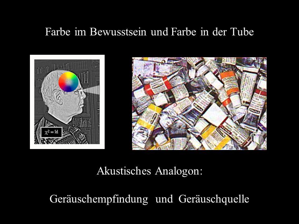 Farbe im Bewusstsein und Farbe in der Tube