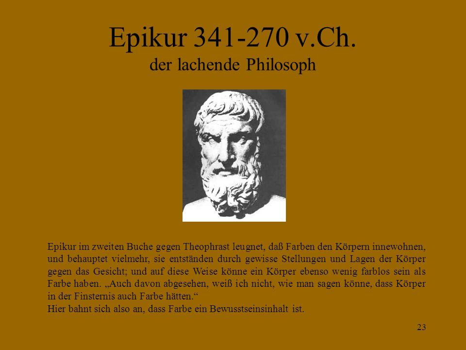 Epikur 341-270 v.Ch. der lachende Philosoph