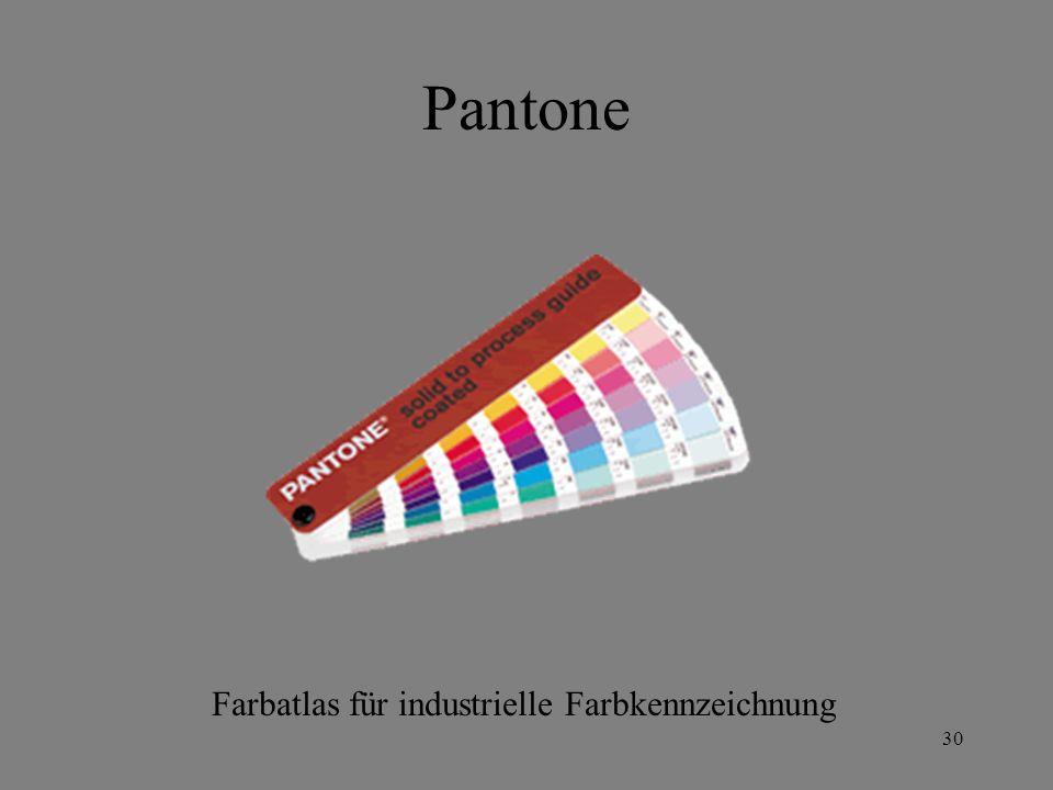 Pantone Farbatlas für industrielle Farbkennzeichnung