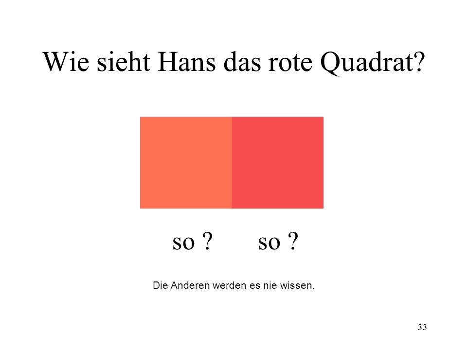 Wie sieht Hans das rote Quadrat