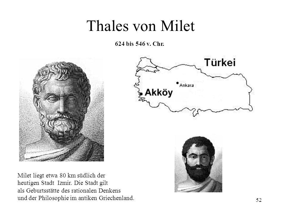 Thales von Milet 624 bis 546 v. Chr.