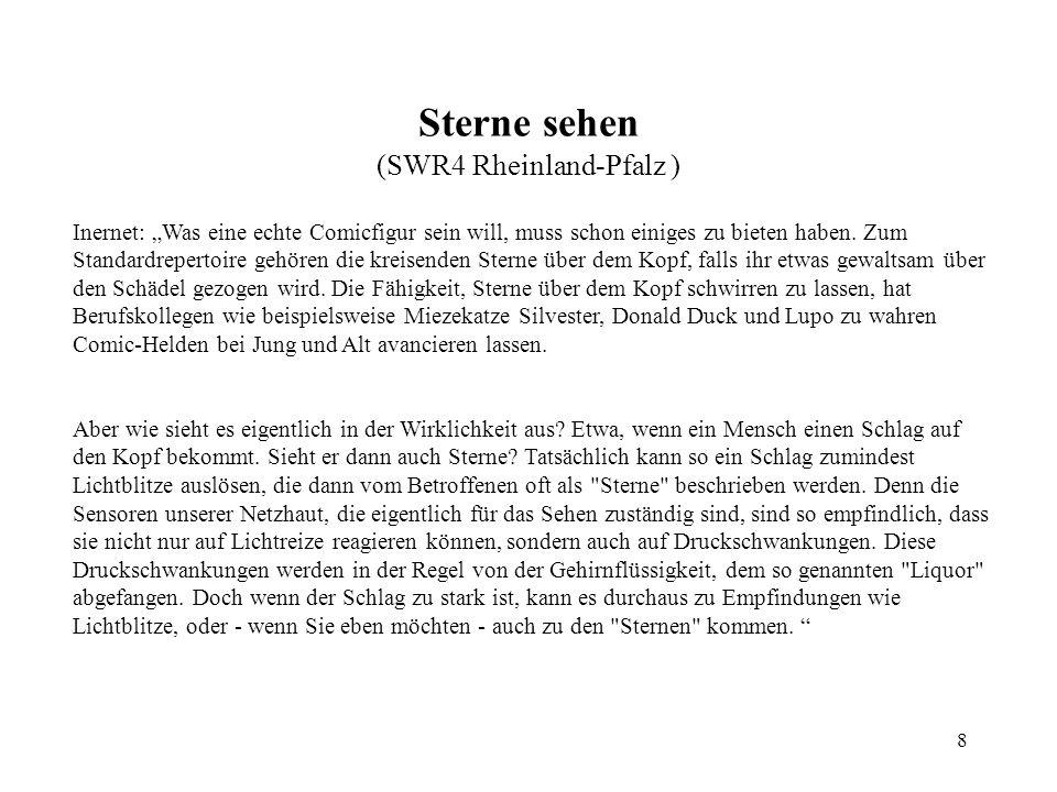 Sterne sehen (SWR4 Rheinland-Pfalz )
