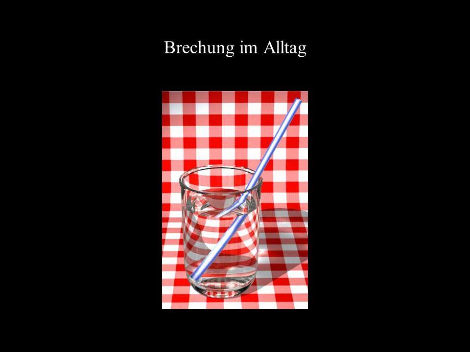 Brechung im Alltag