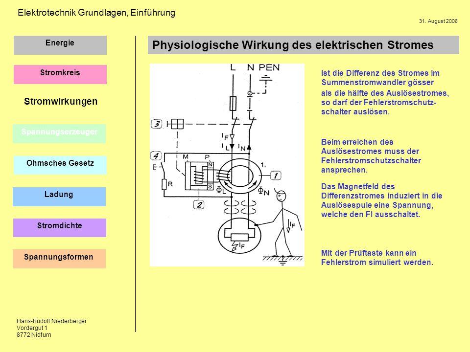 Physiologische Wirkung des elektrischen Stromes