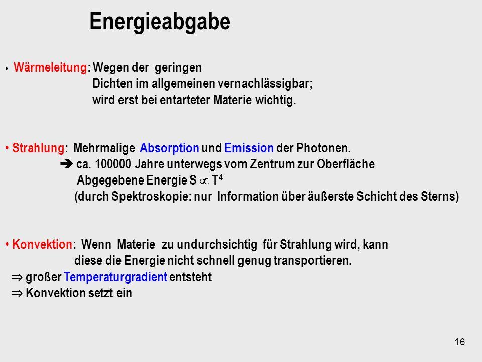 Energieabgabe Dichten im allgemeinen vernachlässigbar;