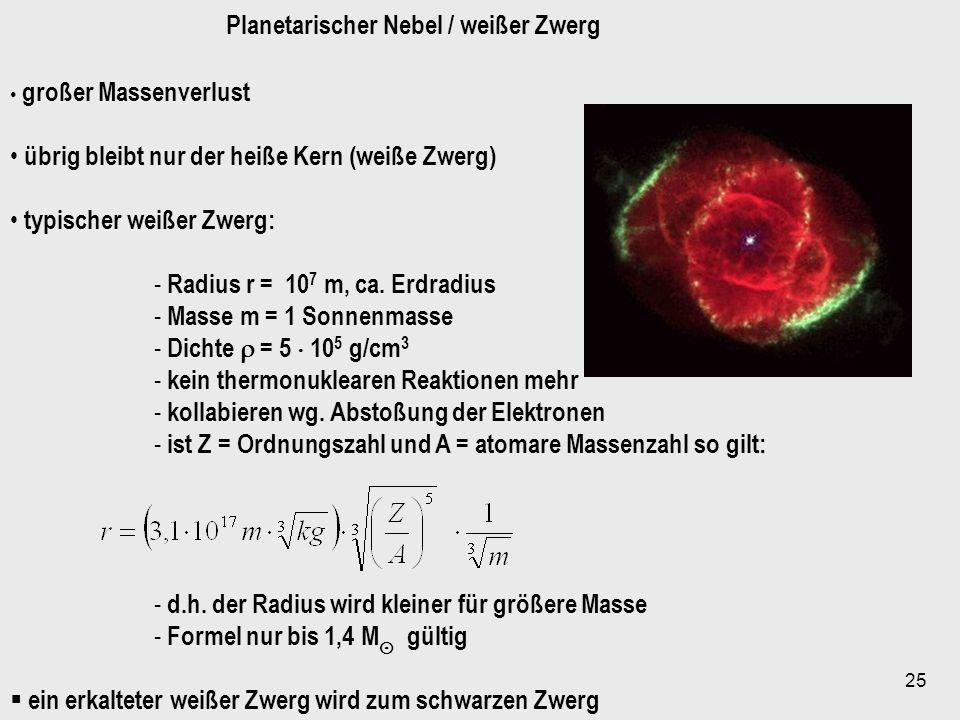 Planetarischer Nebel / weißer Zwerg