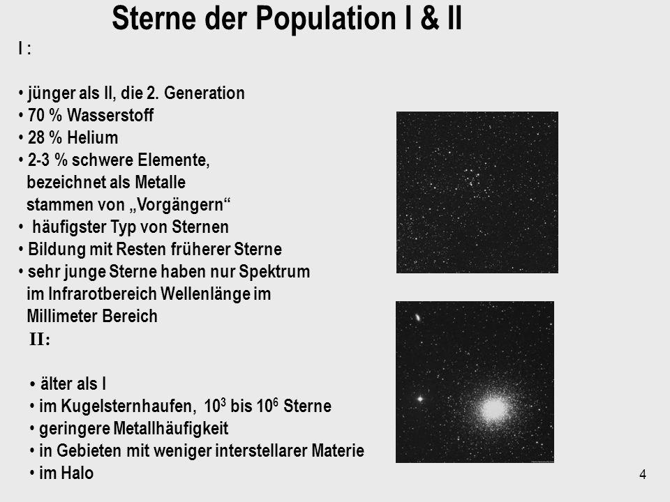 Sterne der Population I & II