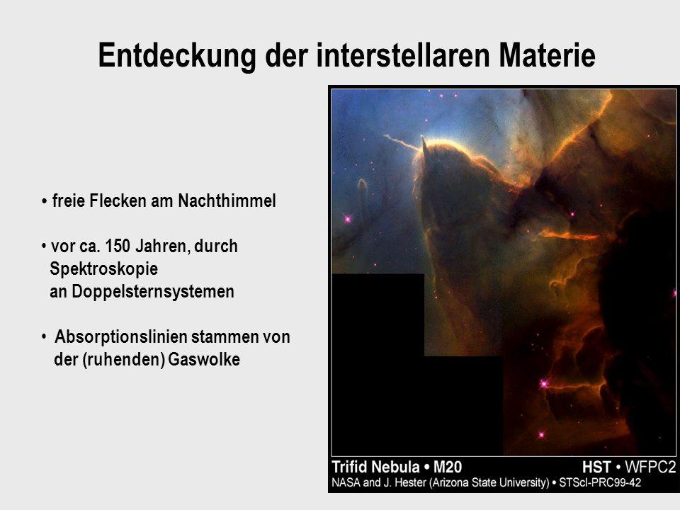 Entdeckung der interstellaren Materie