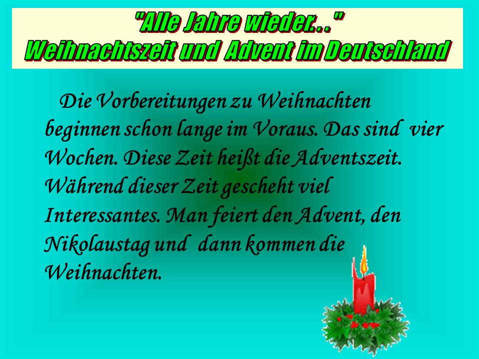 weihnachtszeit und advent im deutschland ppt video online herunterladen. Black Bedroom Furniture Sets. Home Design Ideas
