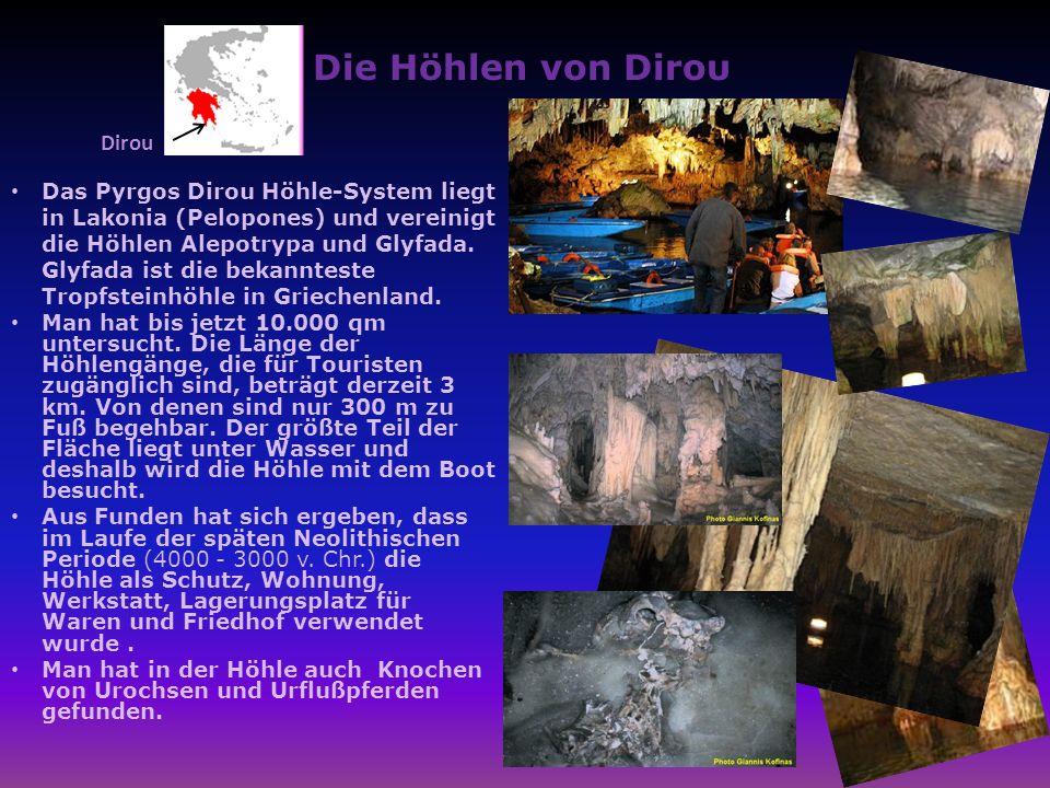 Die Höhlen von Diroυ Dirou