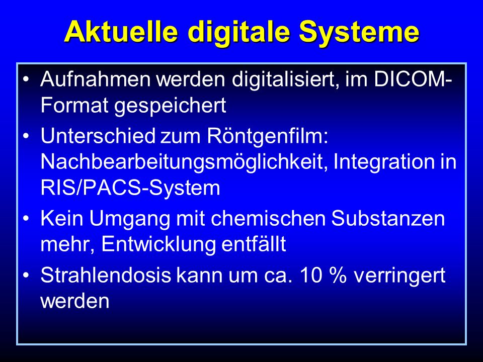 Aktuelle digitale Systeme