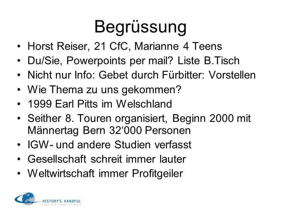 Begrüssung Horst Reiser, 21 CfC, Marianne 4 Teens