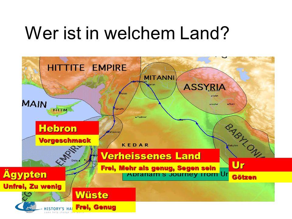 Wer ist in welchem Land Hebron Verheissenes Land Ur Ägypten Wüste