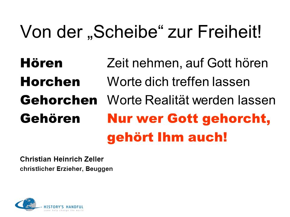 """Von der """"Scheibe zur Freiheit!"""