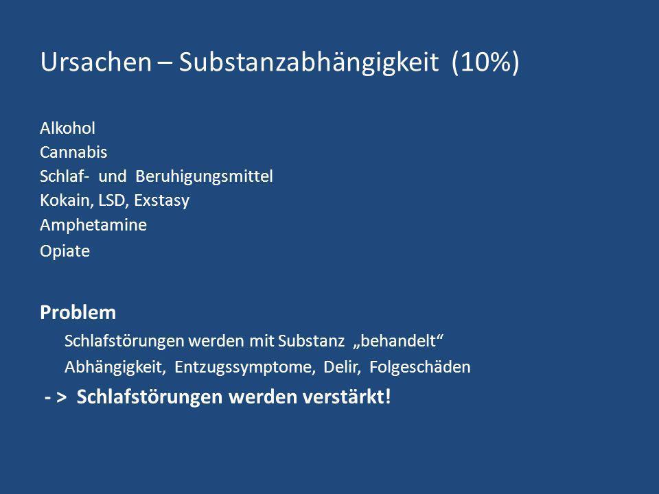 Ursachen – Substanzabhängigkeit (10%)