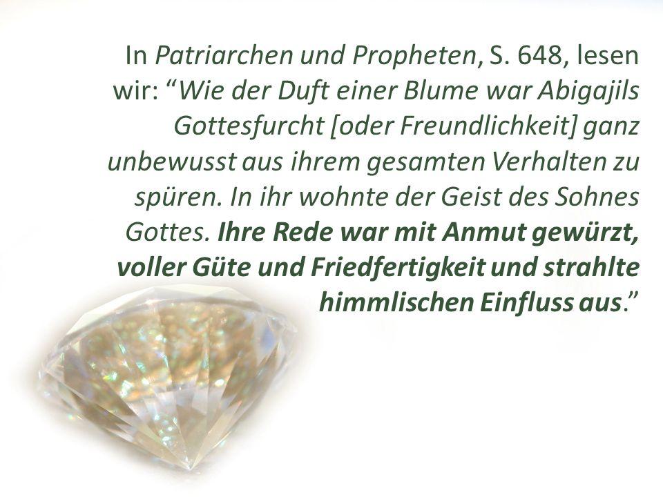 In Patriarchen und Propheten, S