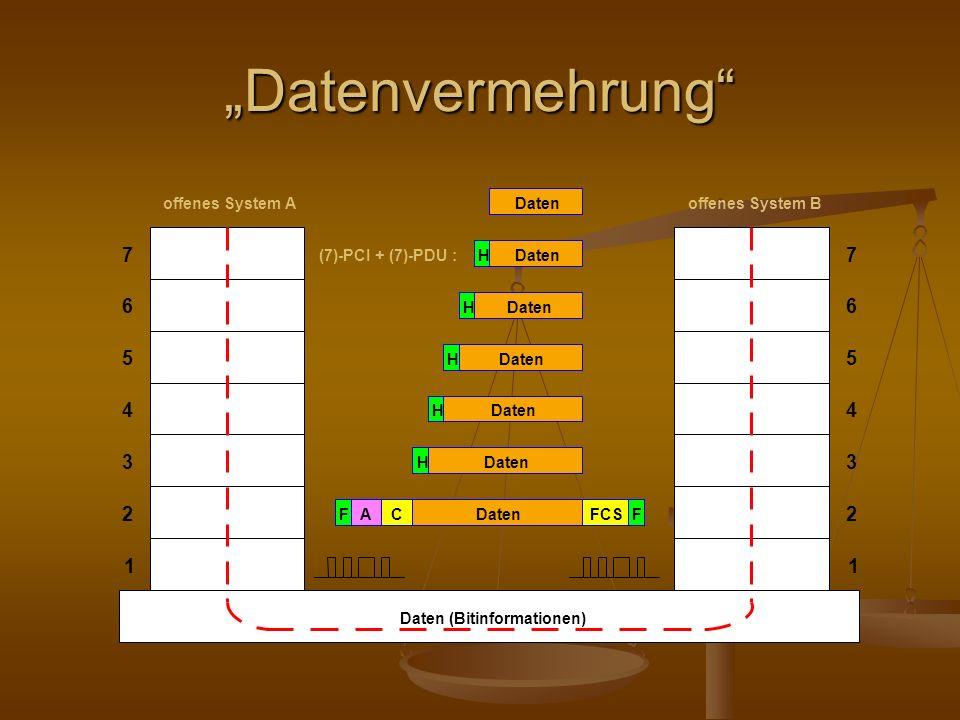 """""""Datenvermehrung 7 6 5 4 3 2 1 Daten (Bitinformationen)"""