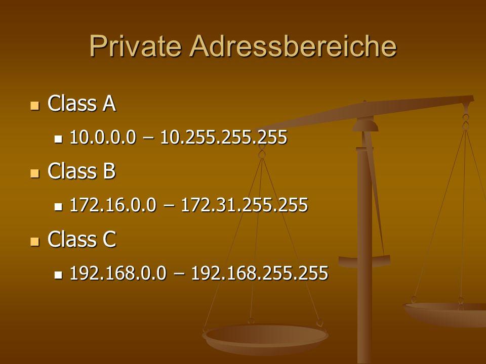 Private Adressbereiche