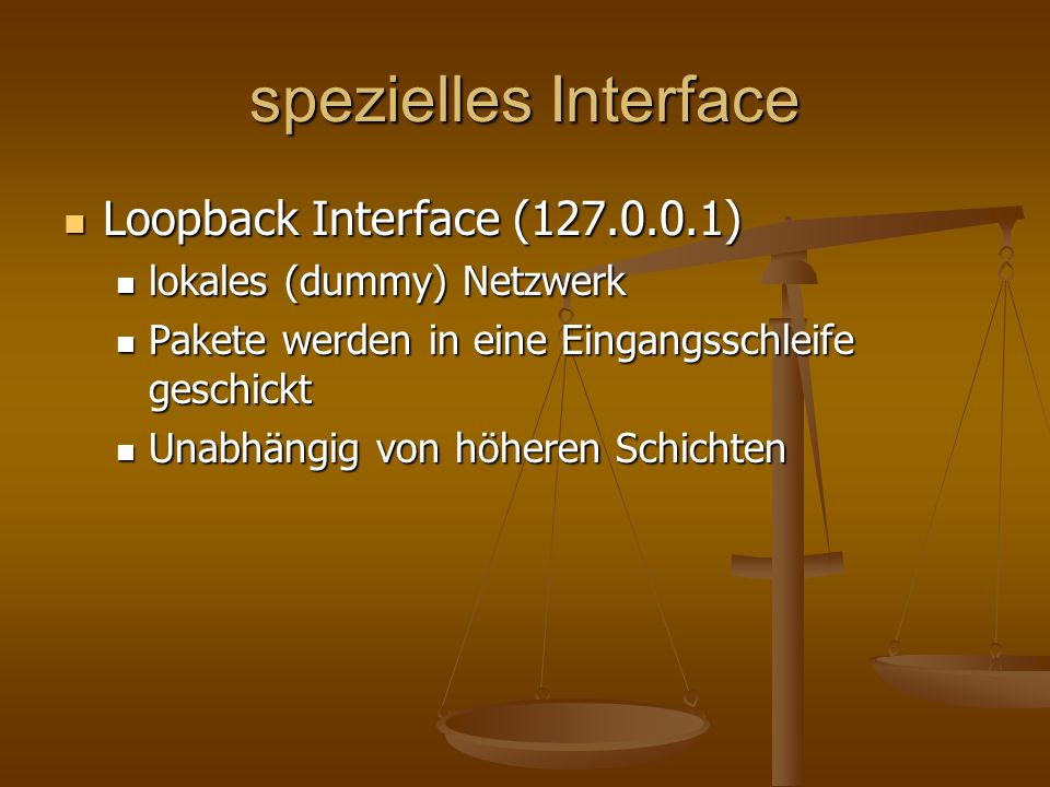 spezielles Interface Loopback Interface (127.0.0.1)