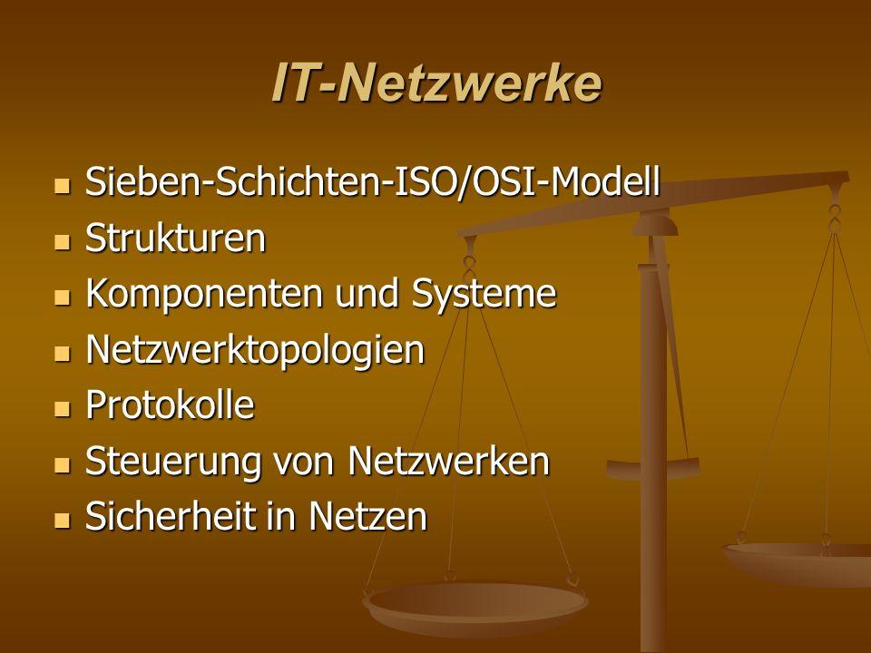 IT-Netzwerke Sieben-Schichten-ISO/OSI-Modell Strukturen