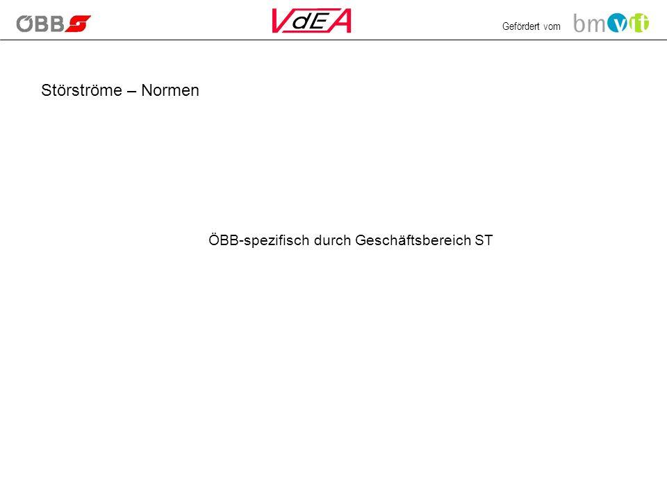Störströme – Normen ÖBB-spezifisch durch Geschäftsbereich ST