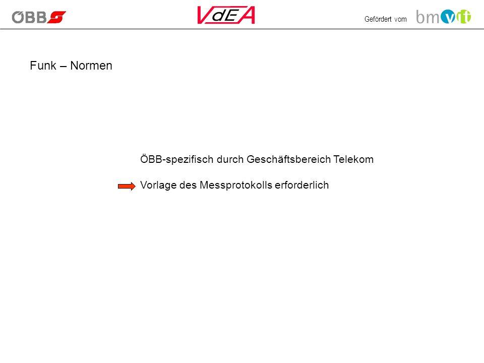 Funk – Normen ÖBB-spezifisch durch Geschäftsbereich Telekom