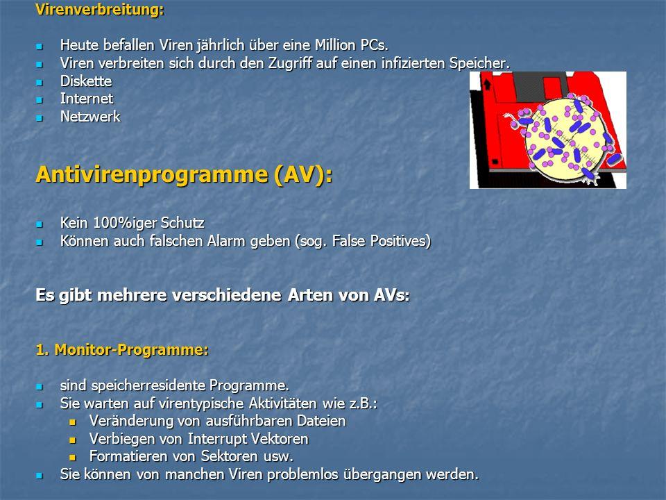 Antivirenprogramme (AV):