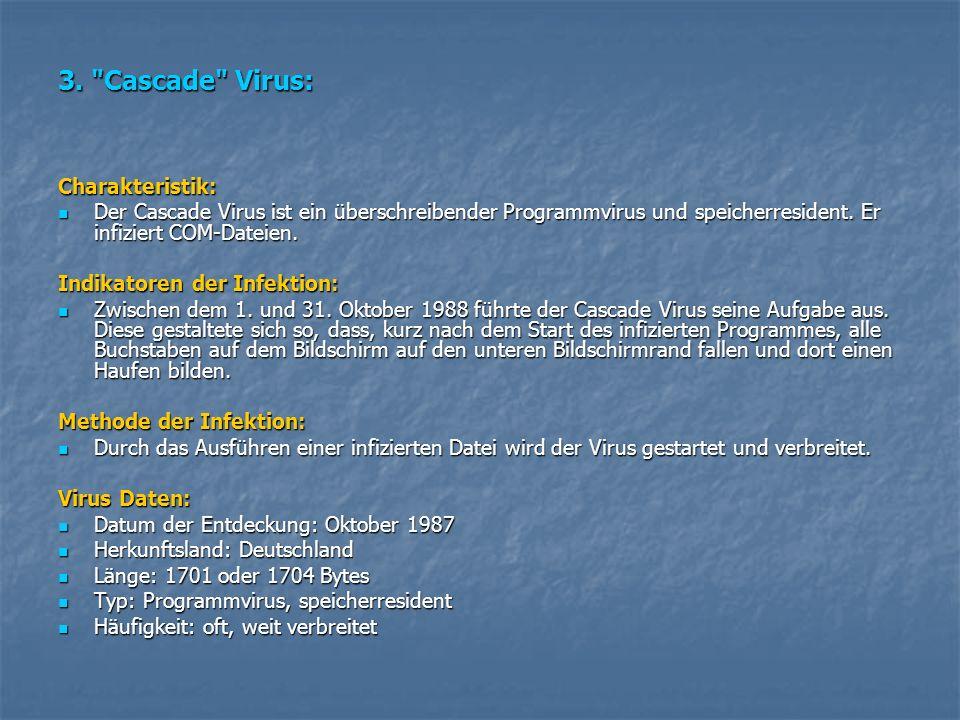 3. Cascade Virus: Charakteristik: