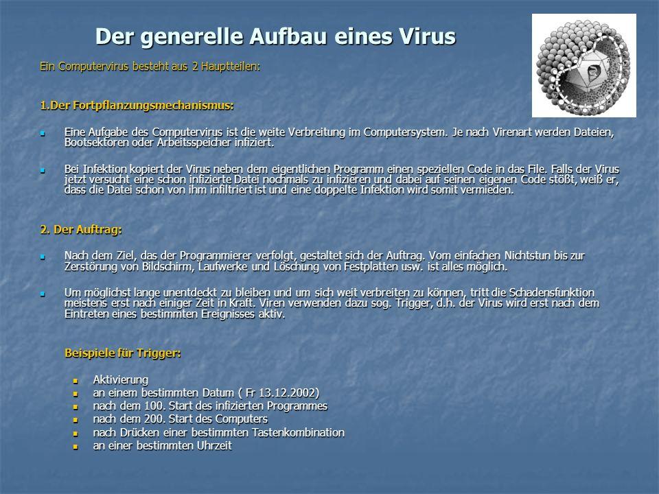 Der generelle Aufbau eines Virus