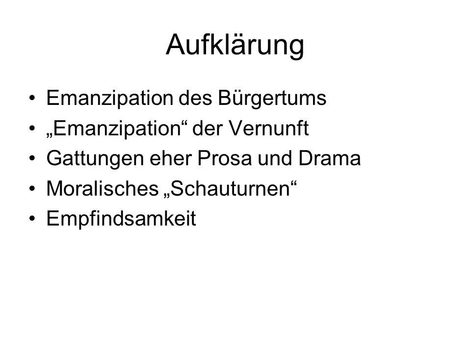 "Aufklärung Emanzipation des Bürgertums ""Emanzipation der Vernunft"