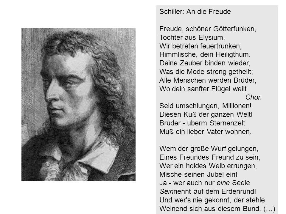 Schiller: An die Freude