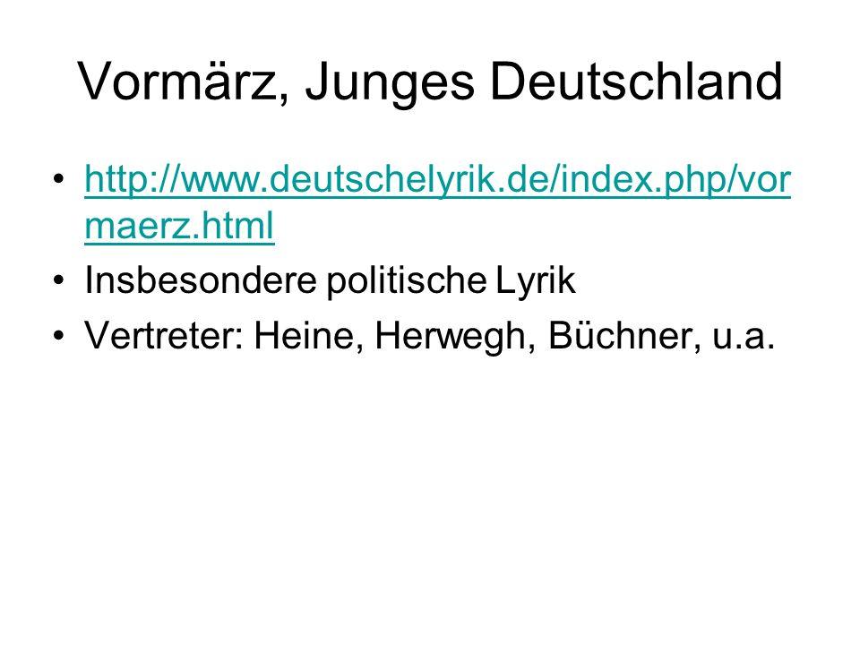 Vormärz, Junges Deutschland