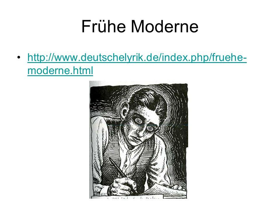 Frühe Moderne http://www.deutschelyrik.de/index.php/fruehe-moderne.html