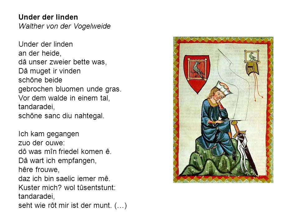 Under der linden Walther von der Vogelweide.