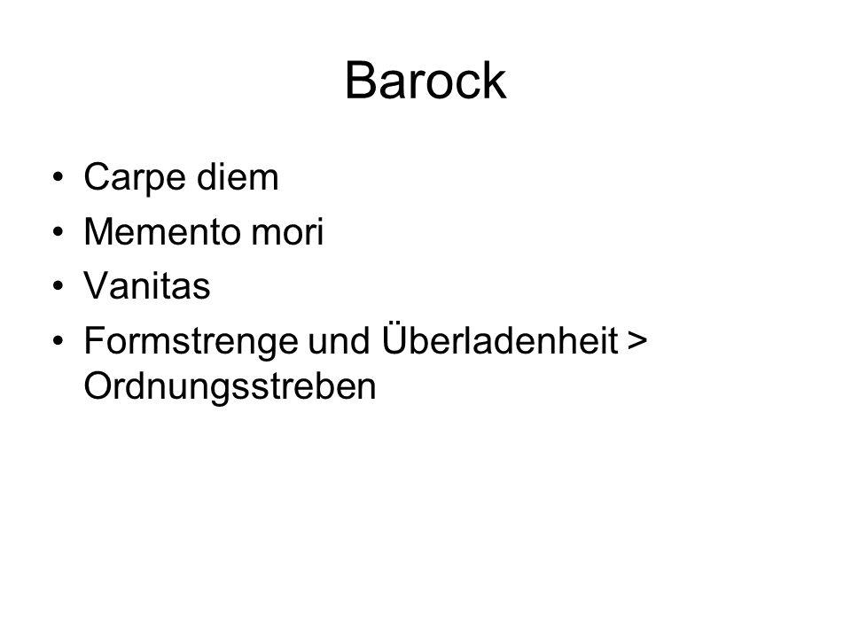 Barock Carpe diem Memento mori Vanitas