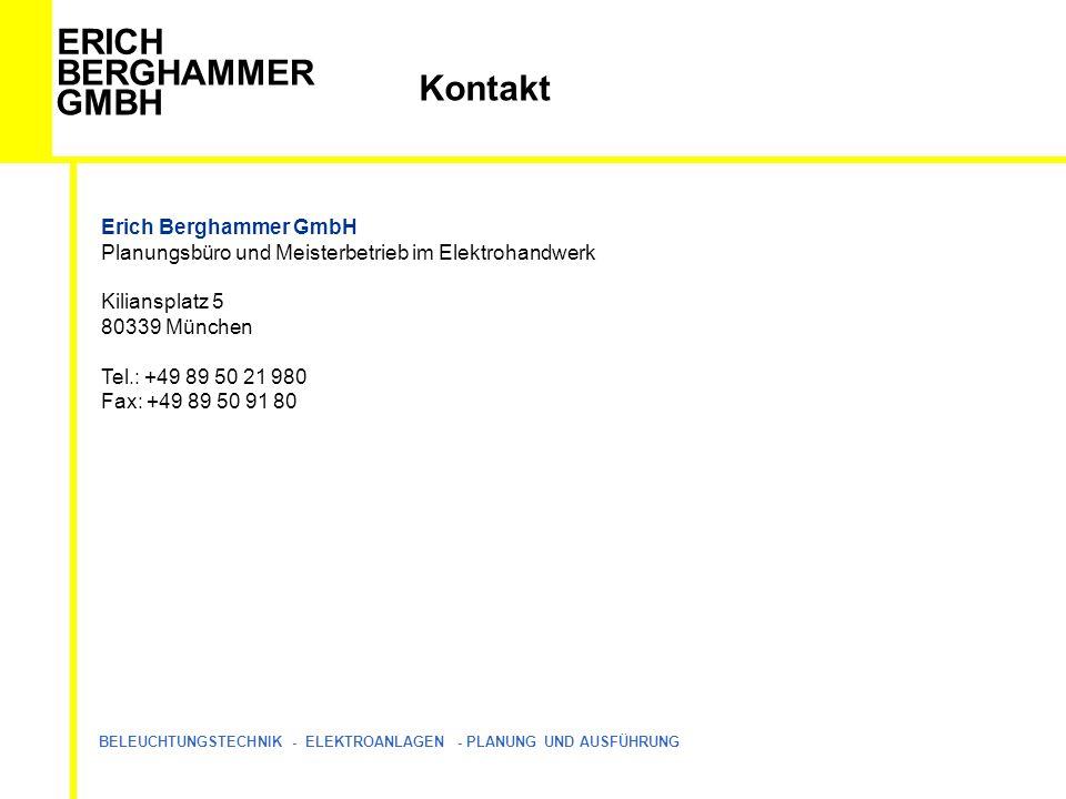 Kontakt Erich Berghammer GmbH