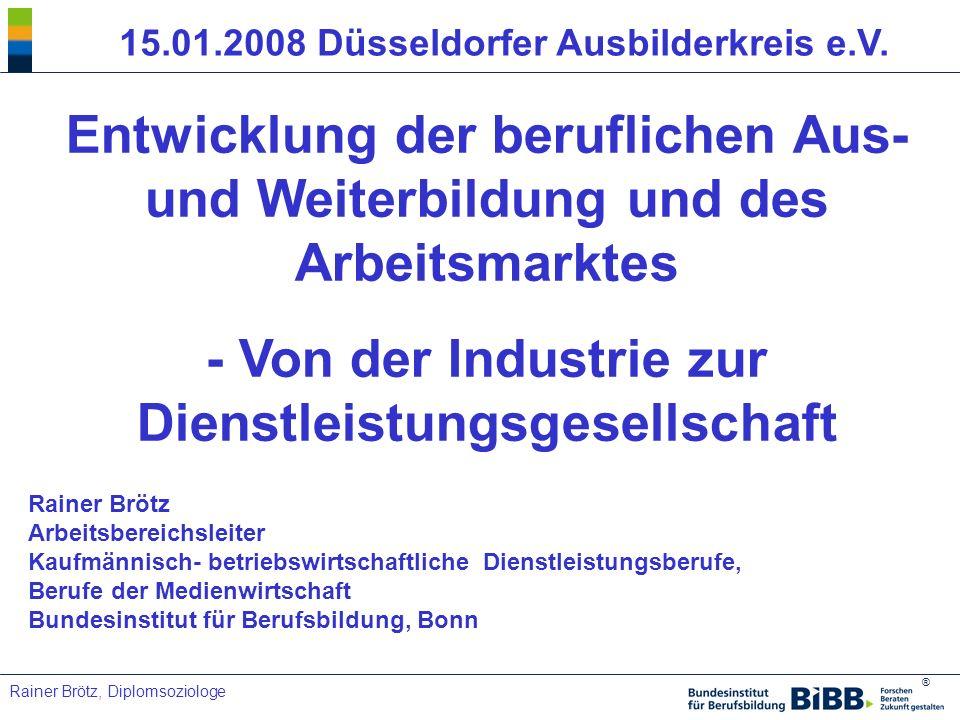 - Von der Industrie zur Dienstleistungsgesellschaft