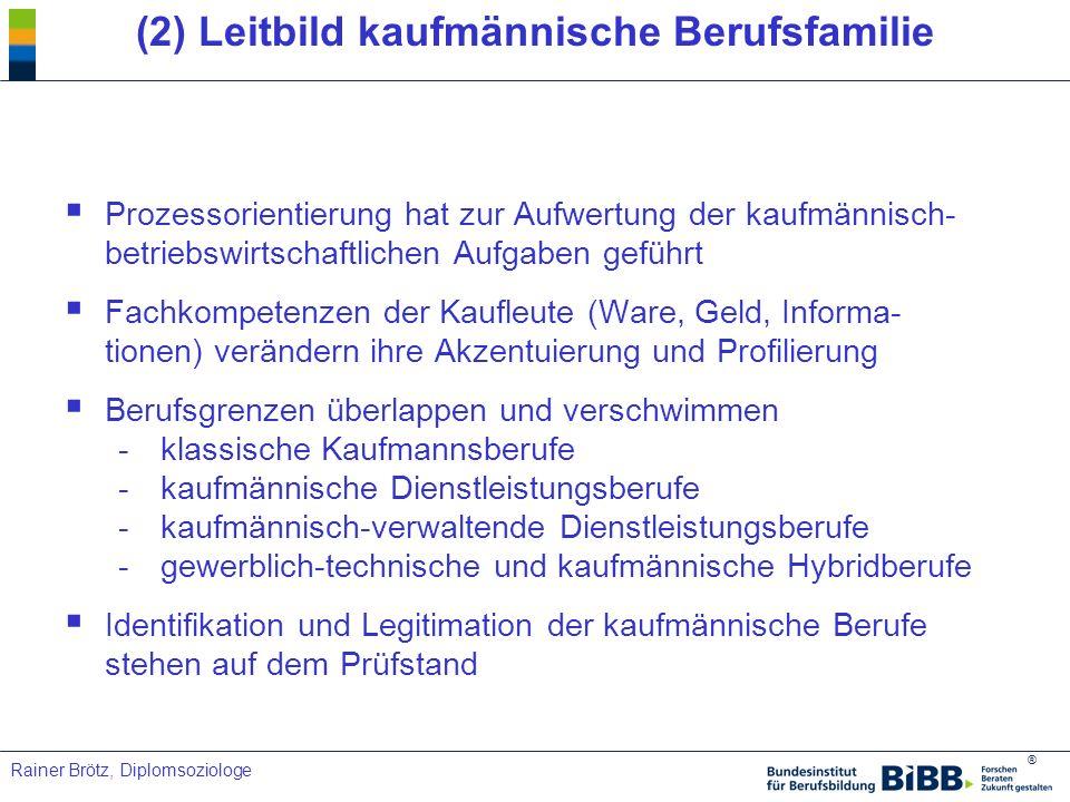 (2) Leitbild kaufmännische Berufsfamilie