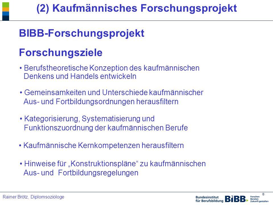 (2) Kaufmännisches Forschungsprojekt