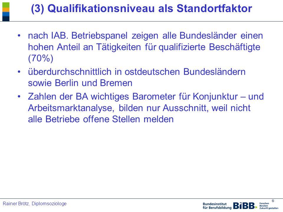 (3) Qualifikationsniveau als Standortfaktor