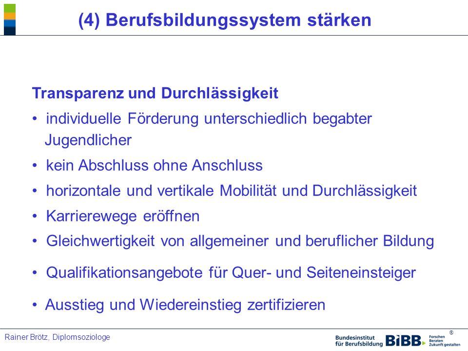 (4) Berufsbildungssystem stärken