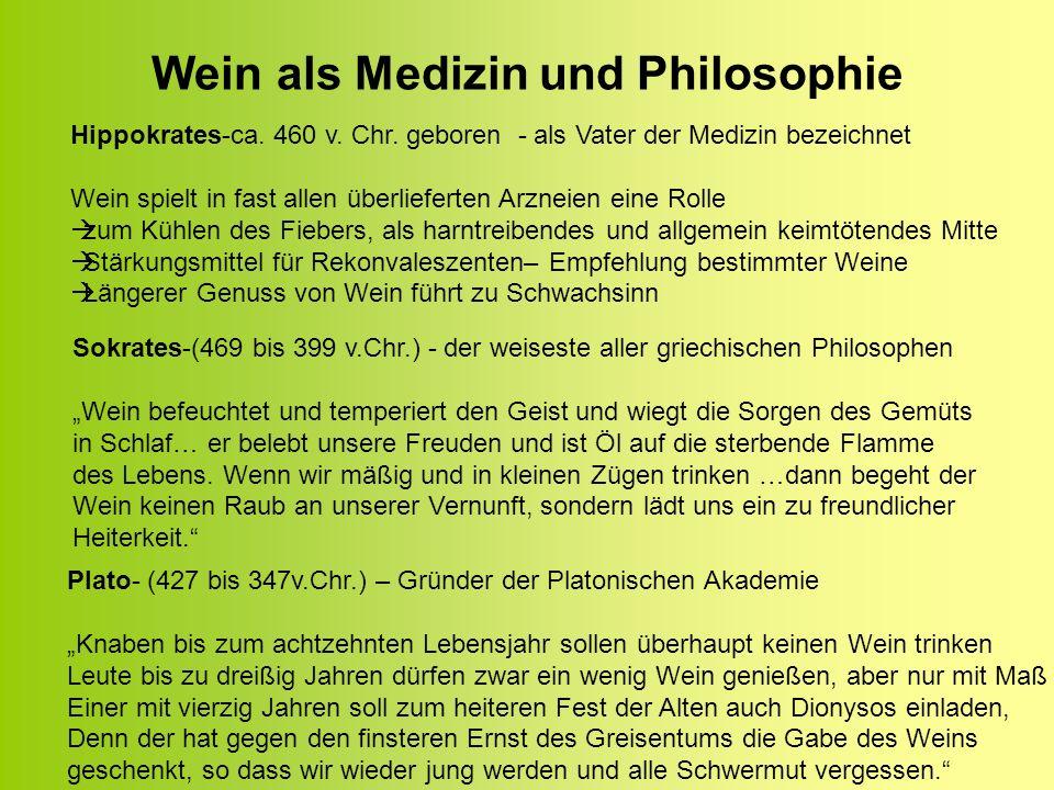 Wein als Medizin und Philosophie