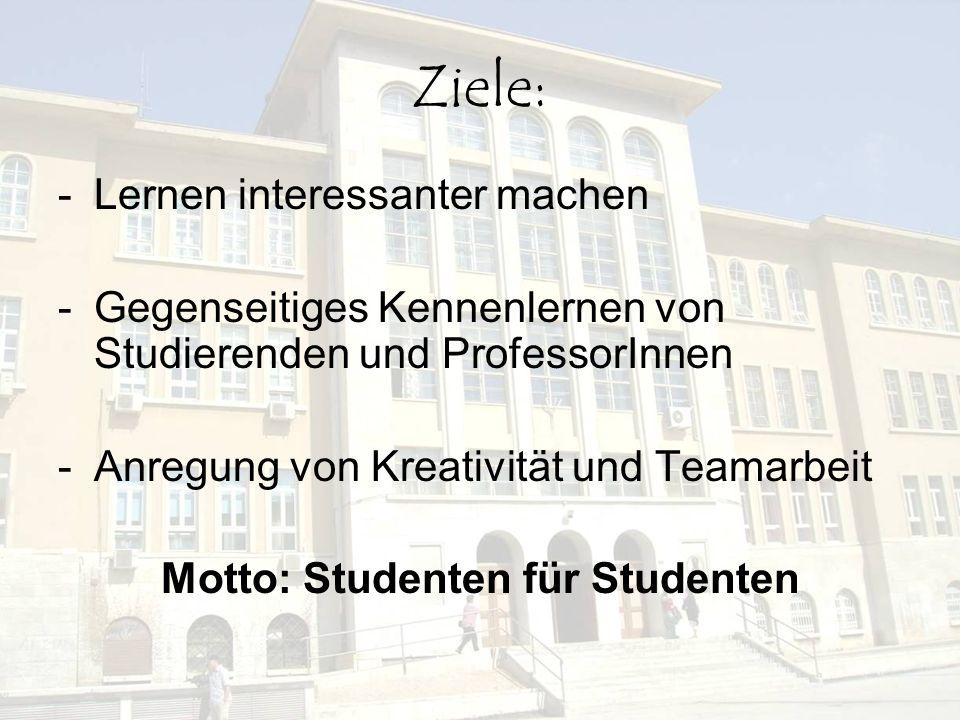 Motto: Studenten für Studenten