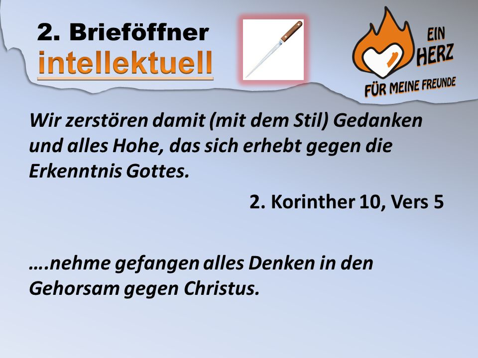 intellektuell 2. Brieföffner