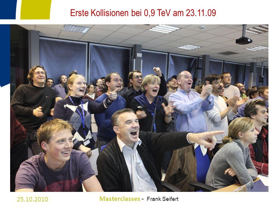 Erste Kollisionen bei 0,9 TeV am 23.11.09
