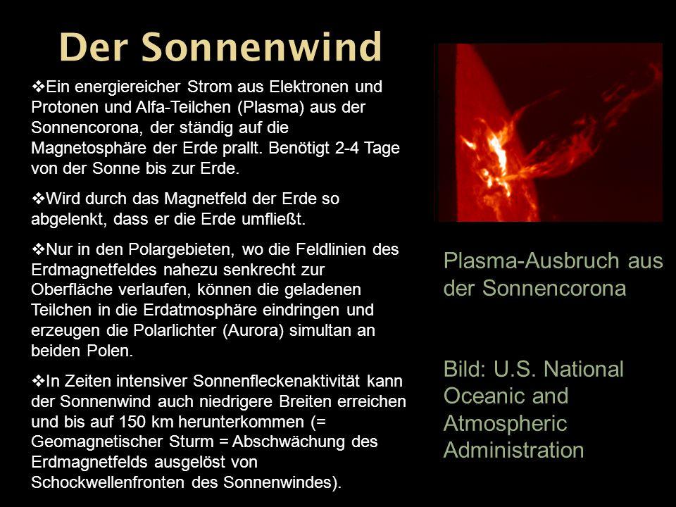 Der Sonnenwind Plasma-Ausbruch aus der Sonnencorona