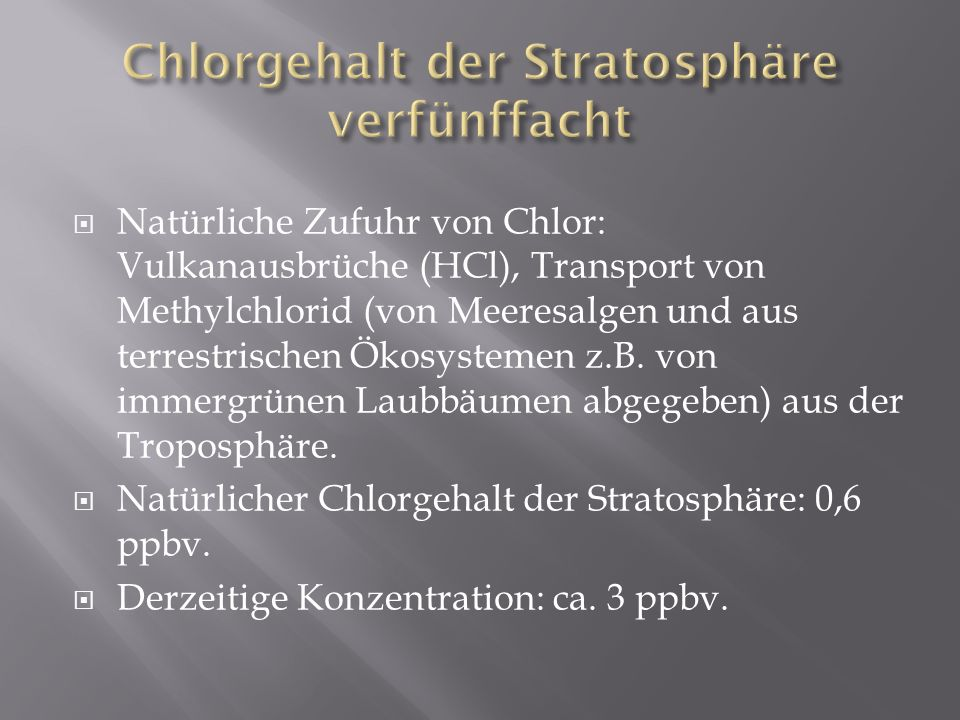 Chlorgehalt der Stratosphäre verfünffacht