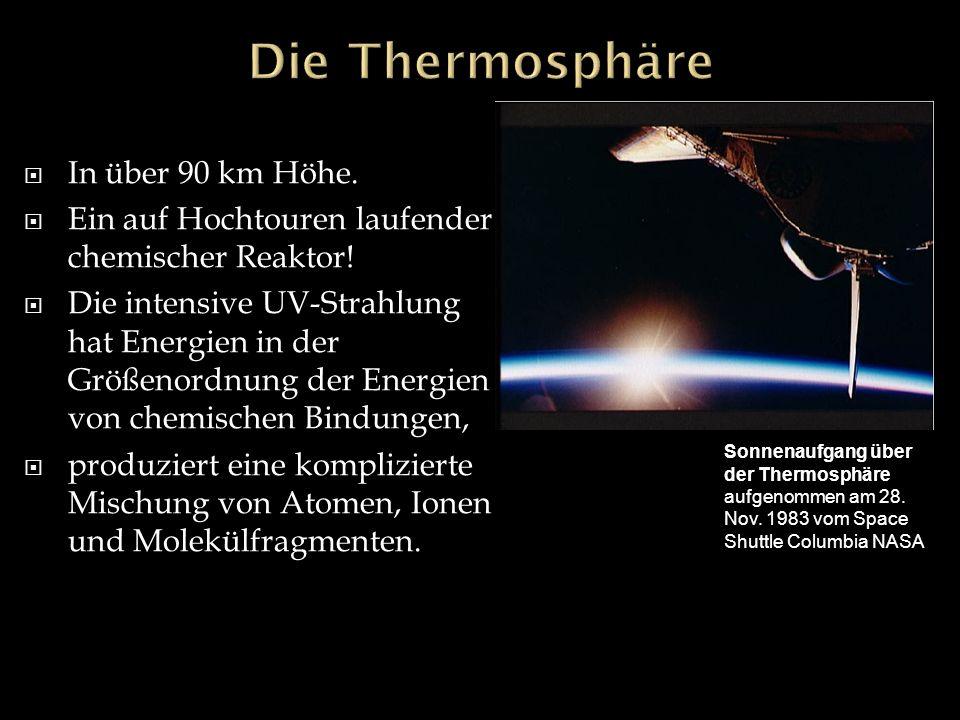 Die Thermosphäre In über 90 km Höhe.