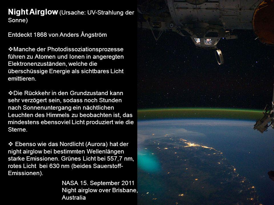 Night Airglow (Ursache: UV-Strahlung der Sonne)