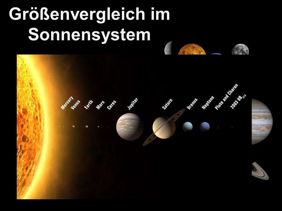 Größenvergleich im Sonnensystem